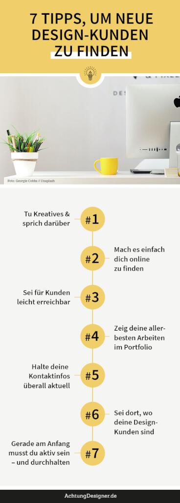 Infografik: 7 Tipps, um neue Design-Kunden zu finden
