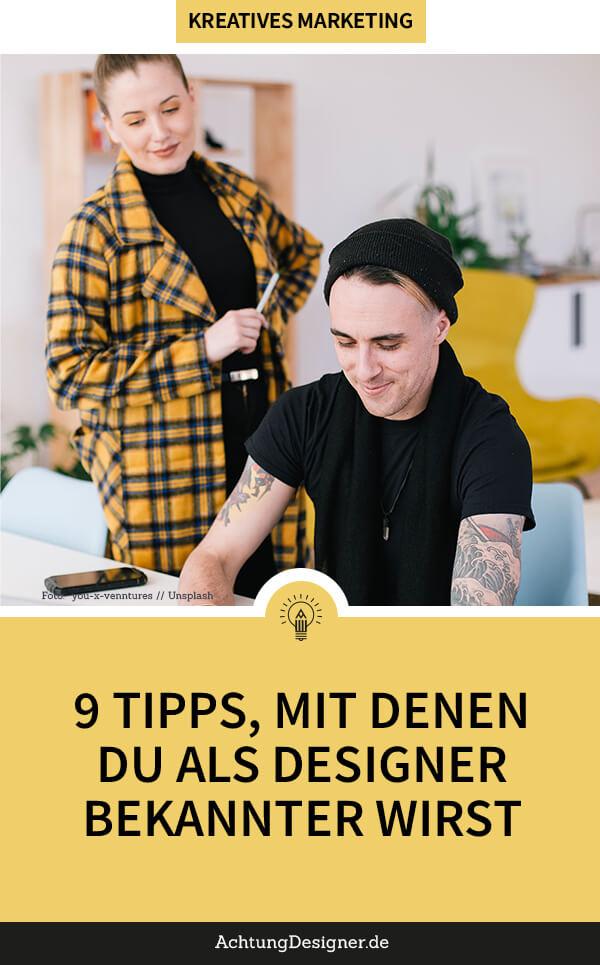 als designer bekannt werden hoch 2