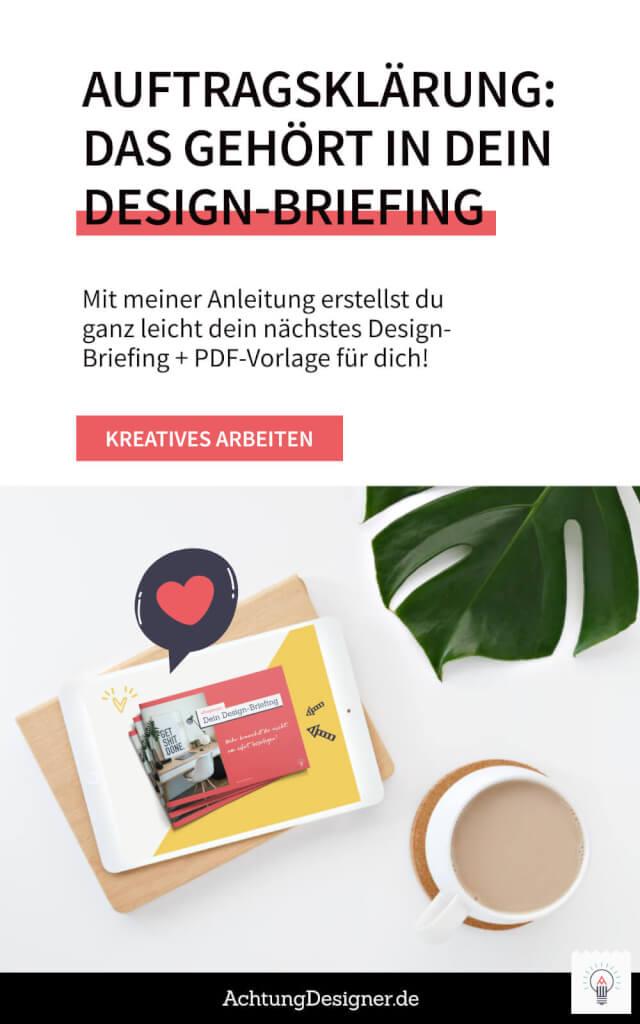 Auftragsklärung: Das gehört in dein Design-Briefing