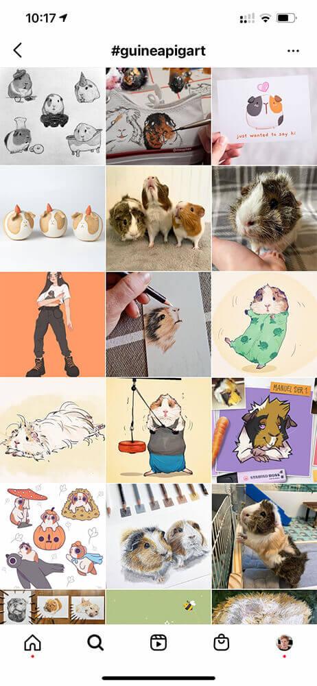 eigene Designprodukte Marktanalyse Instagram