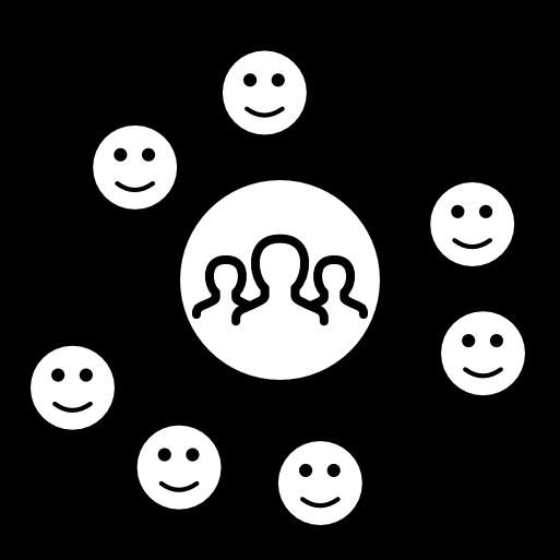 Icon, wie es mit der Digitalen Kundenbeziehung aussieht
