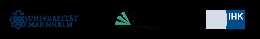 Logos Universität Mannheim, Karlsruher Institut für Technologie und IHK