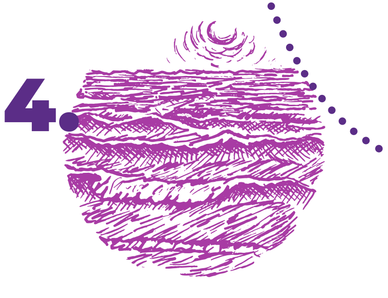 Meer mit leichten Wellen