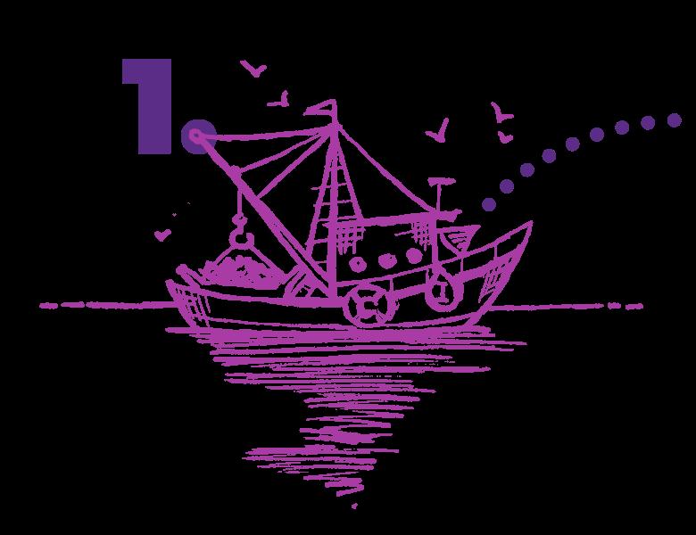 Schiff auf ruhiger See