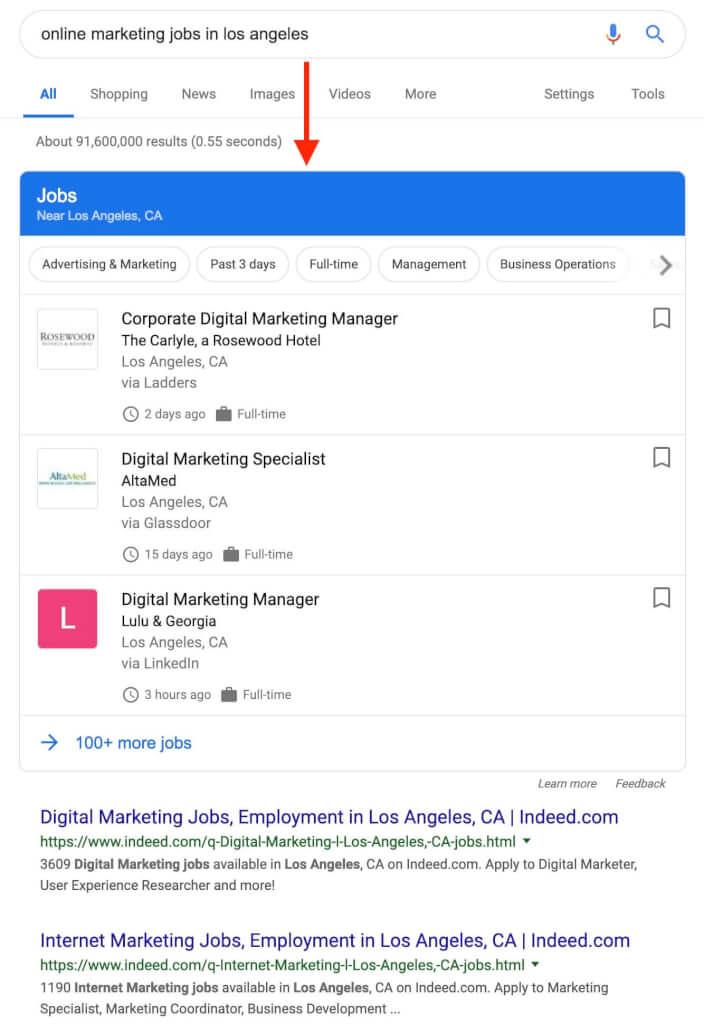 Google Jobs SEO