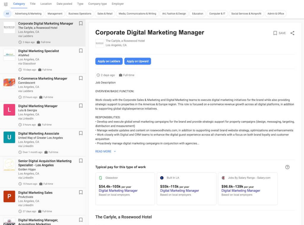 Stellenanzeige Google Jobs SEO