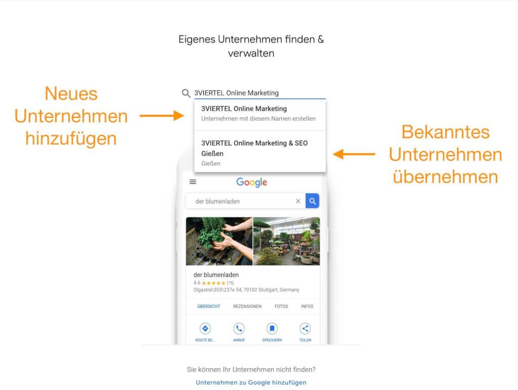 Google My Business einrichten