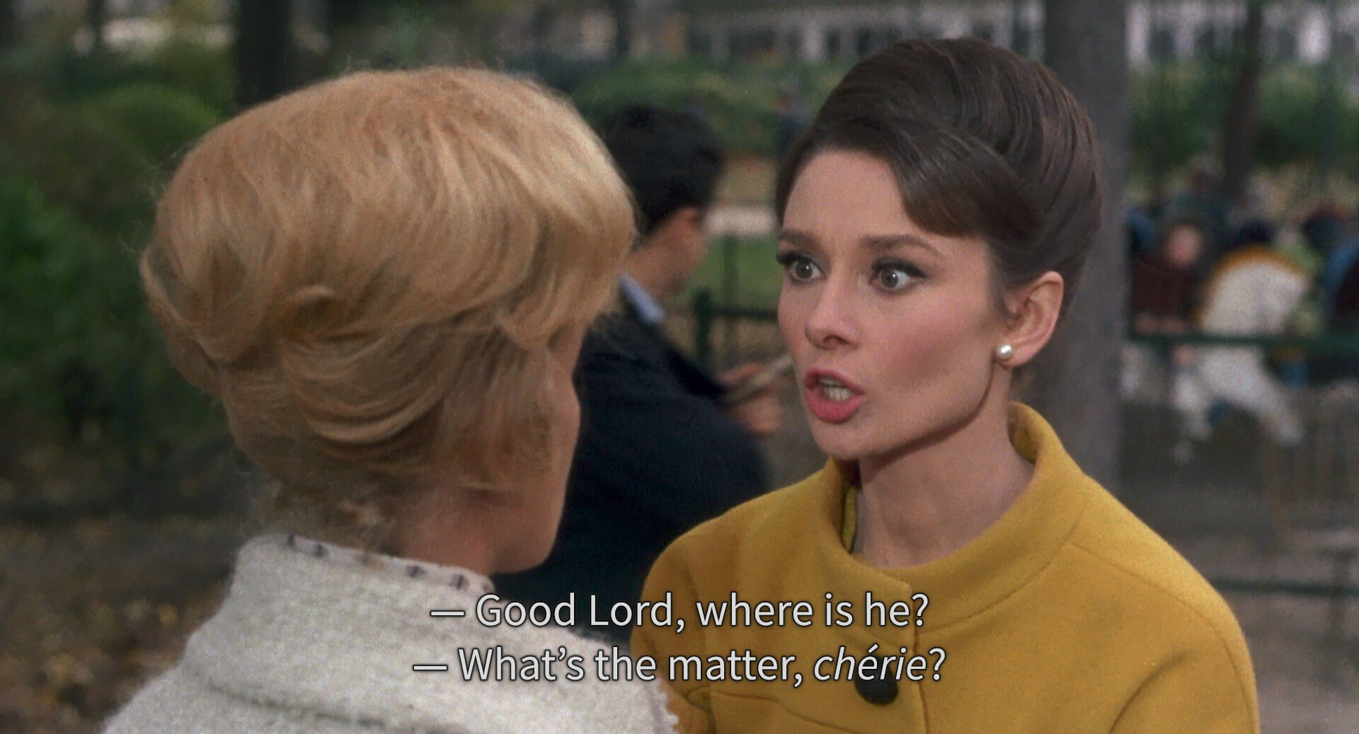 An example of subtitles from the 1963 movie Charade