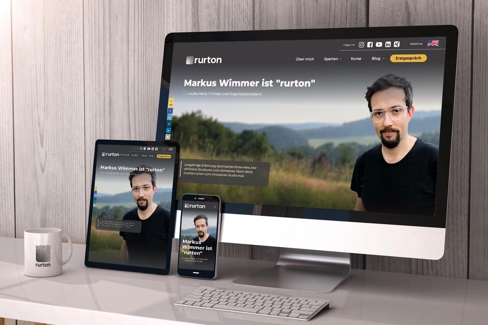 Die neue Homepage ist online - entdecke rurton.de neu