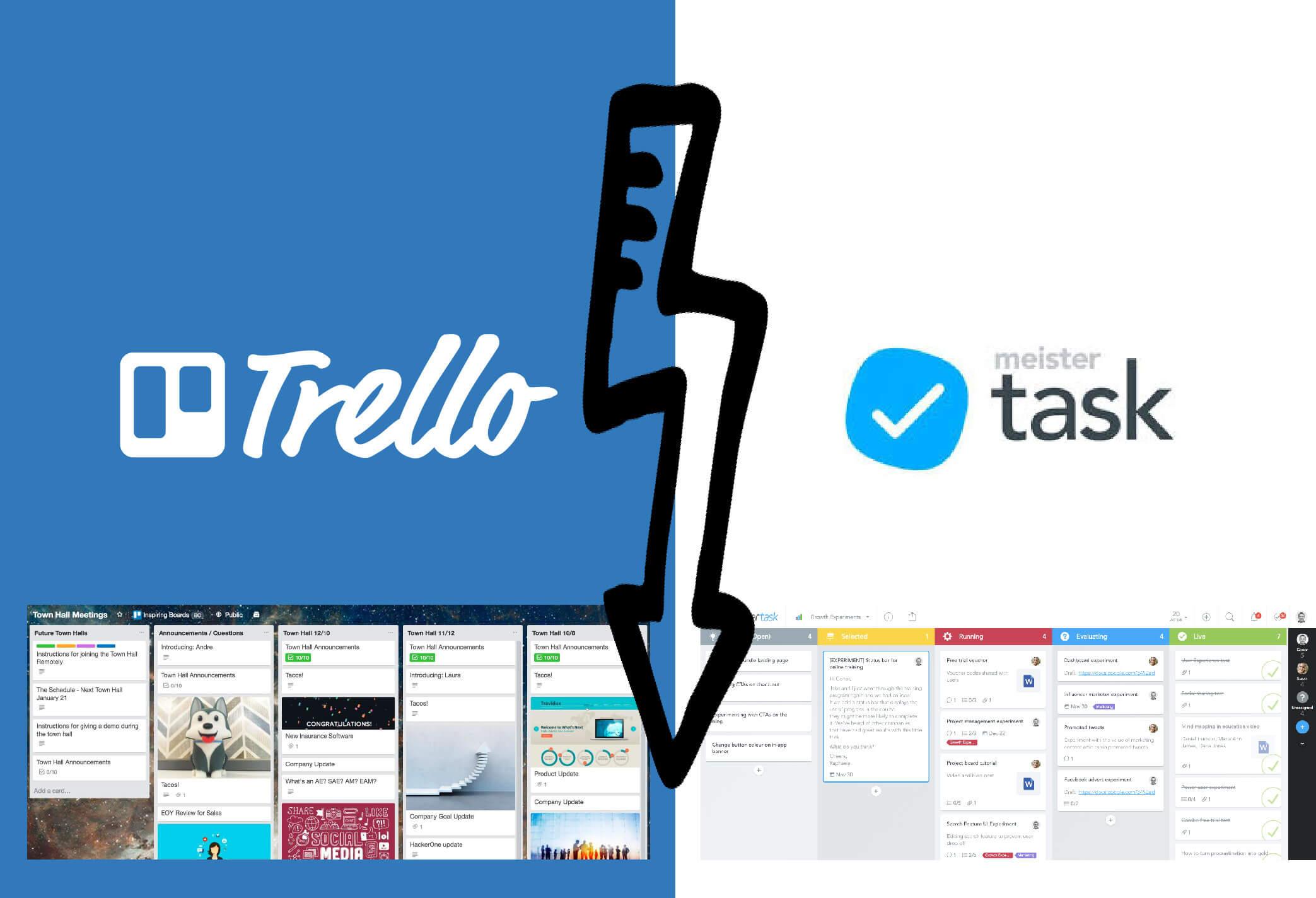 MeisterTask vs. Trello - Der ultimative Vergleich der beiden Projektmanagement Tools