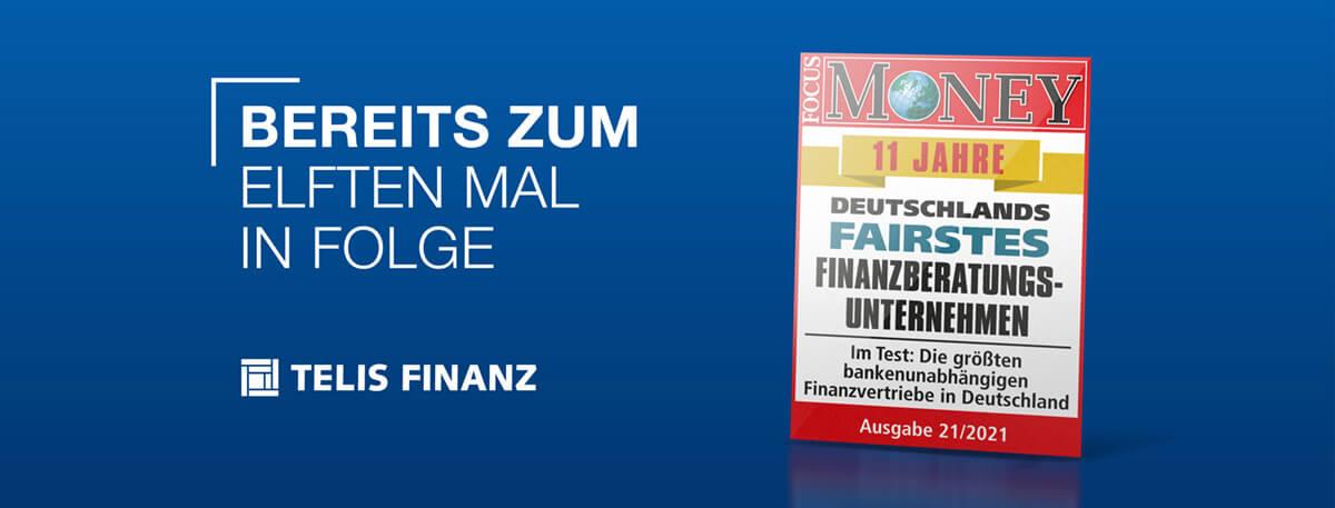 TELIS Titelbild Auszeichnung Focus Money 820x312px