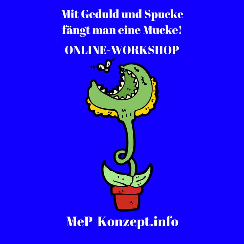 Workshop Mit Geduld und Spucke, MeP-Konzept, Produktbild