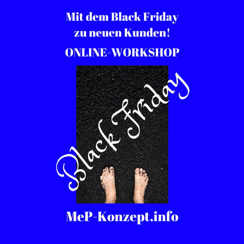 Workshop Mit dem Black Friday zu neuen Kunden, MeP-Konzept, Produktbild
