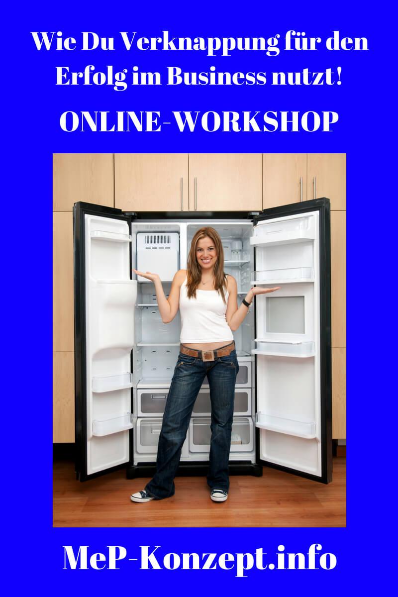 Workshop Verknappung für den Erfolg, MeP-Konzept,, Pinterest Pin