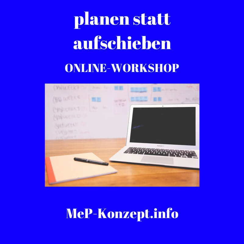 Workshop planen statt aufschieben, MeP-Konzept, Produktbild