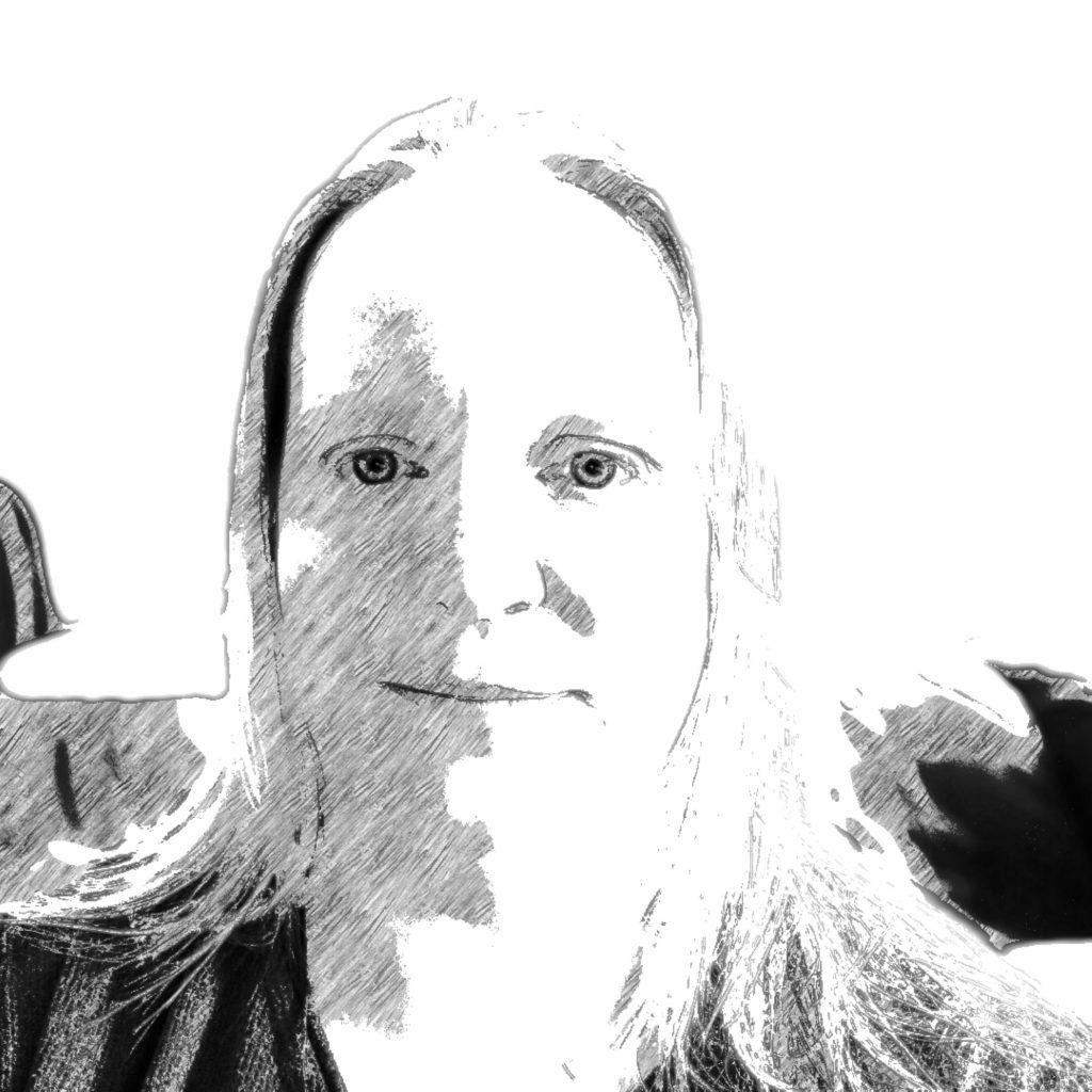 Carmen Splitt, Selfie mit Bleistiftfilter