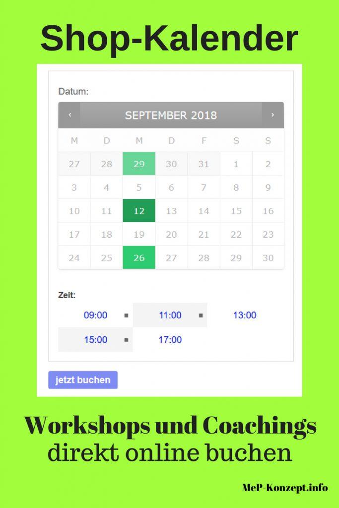 Shop-Kalender ist scharf geschaltet, MeP-Konzept.info, Pinterest-Pin