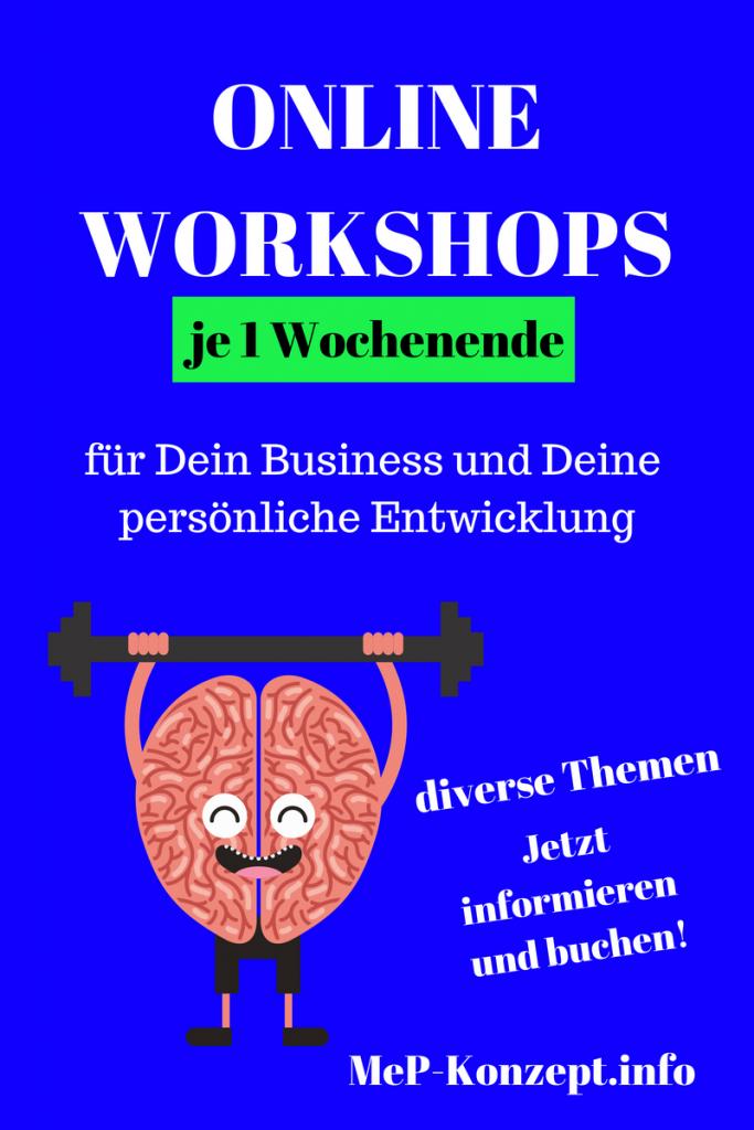1 Online-Workshop, Wochenend-Workshop bei MeP-Konzept.info