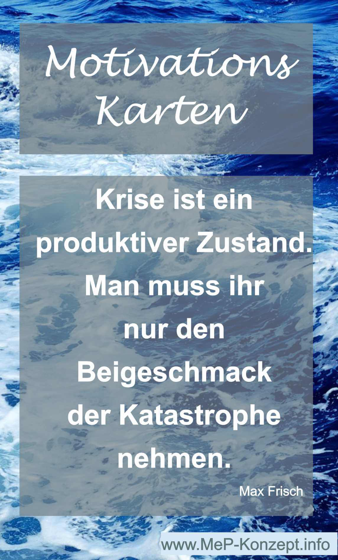 Motivationskarte Krise ohne Katastrophe
