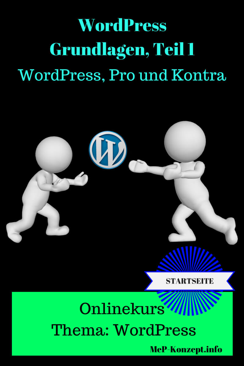 Startseite Onlinekurs Basis WordPress 1