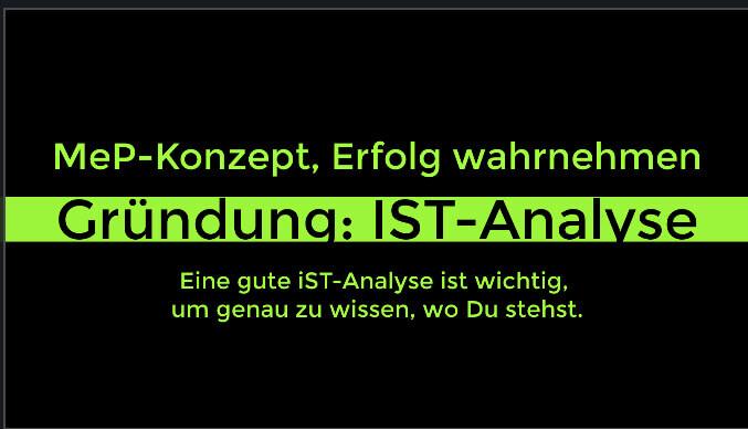 Gründung IST-Analyse