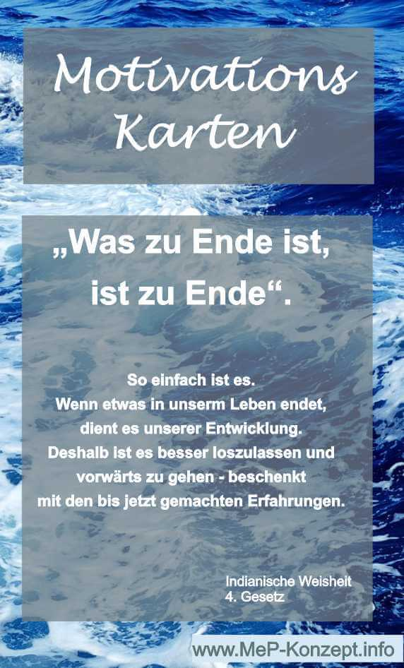 Motivationskarte Ende und Neues