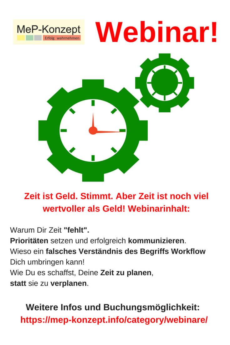 Zeitmanagement lernen ist ein Webinar von MeP-Konzept