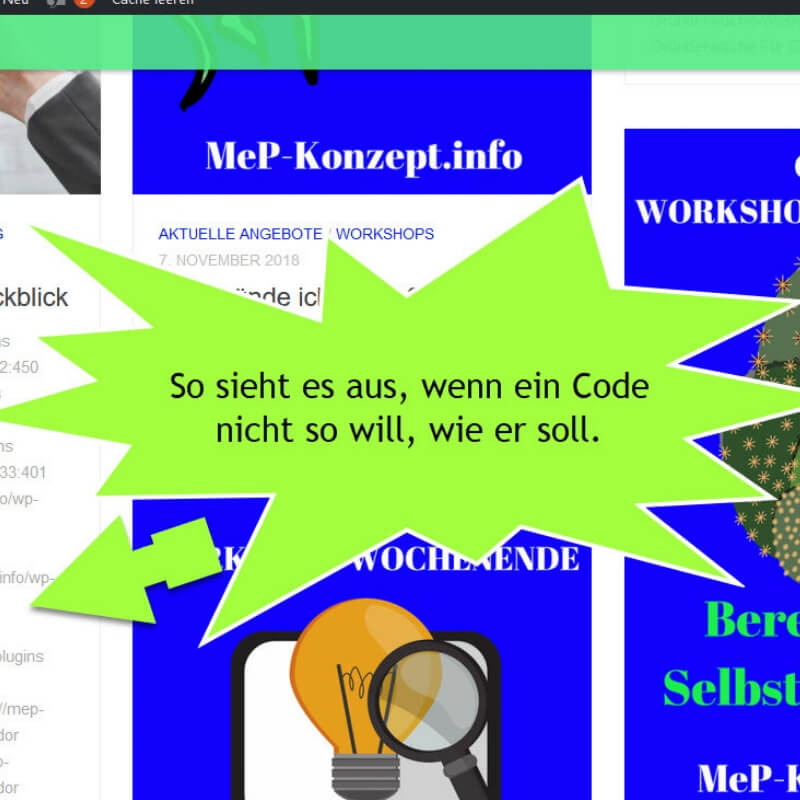 Codes statt Text – Plugin mit Hindernissen