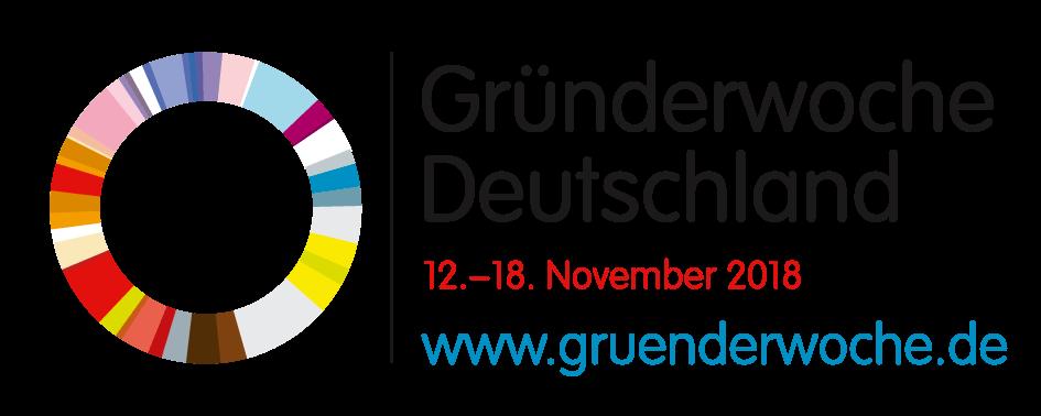 Gründerwoche 2018 offizielles Partnerlogo