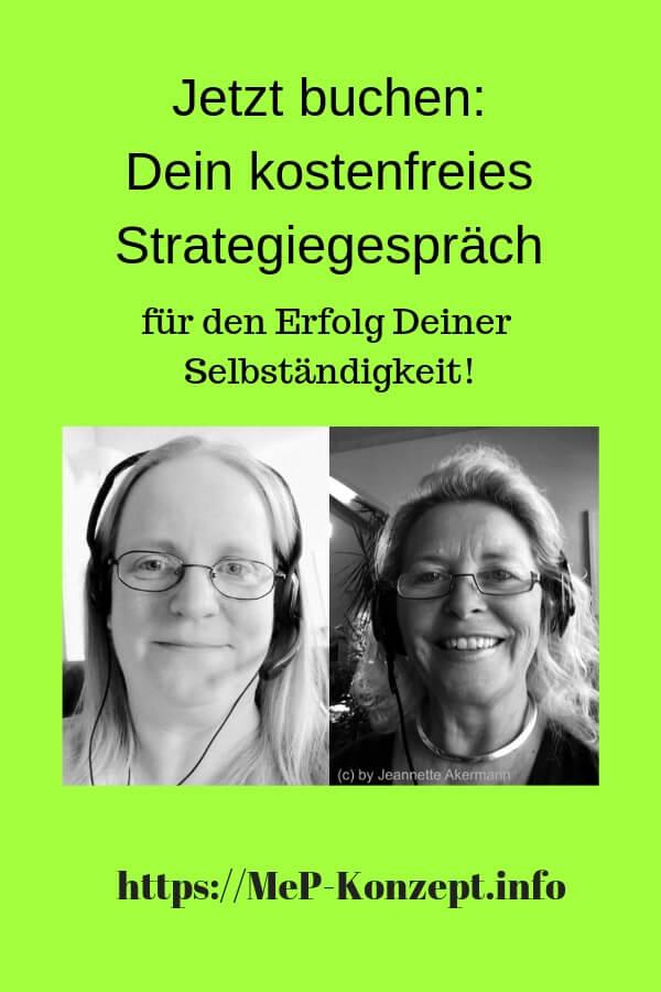 Kostenfreies Strategiegespräch für Existenzgründerinnen, MeP-Konzept, Carmen Splitt