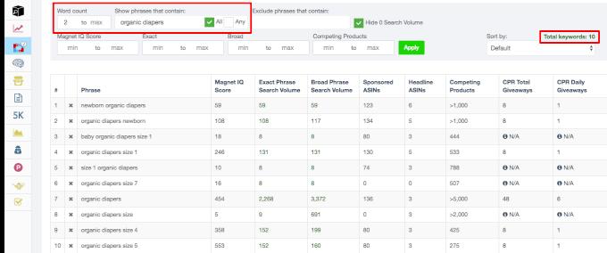 Helium 10 vs Jungle Scout Magnet Keywords Magnet 2.0 Filter