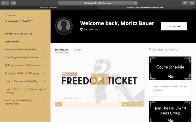 Freedom Tickt by Kevin King   Dashboard