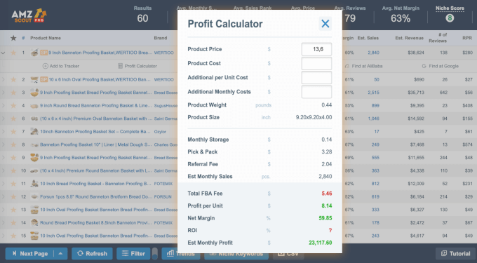 AMZScout Profit Calculator