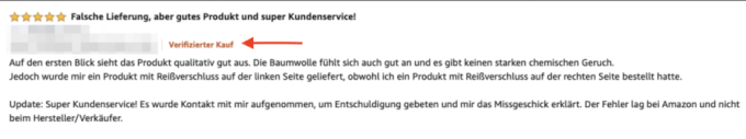 Amazon Bewertungen 1