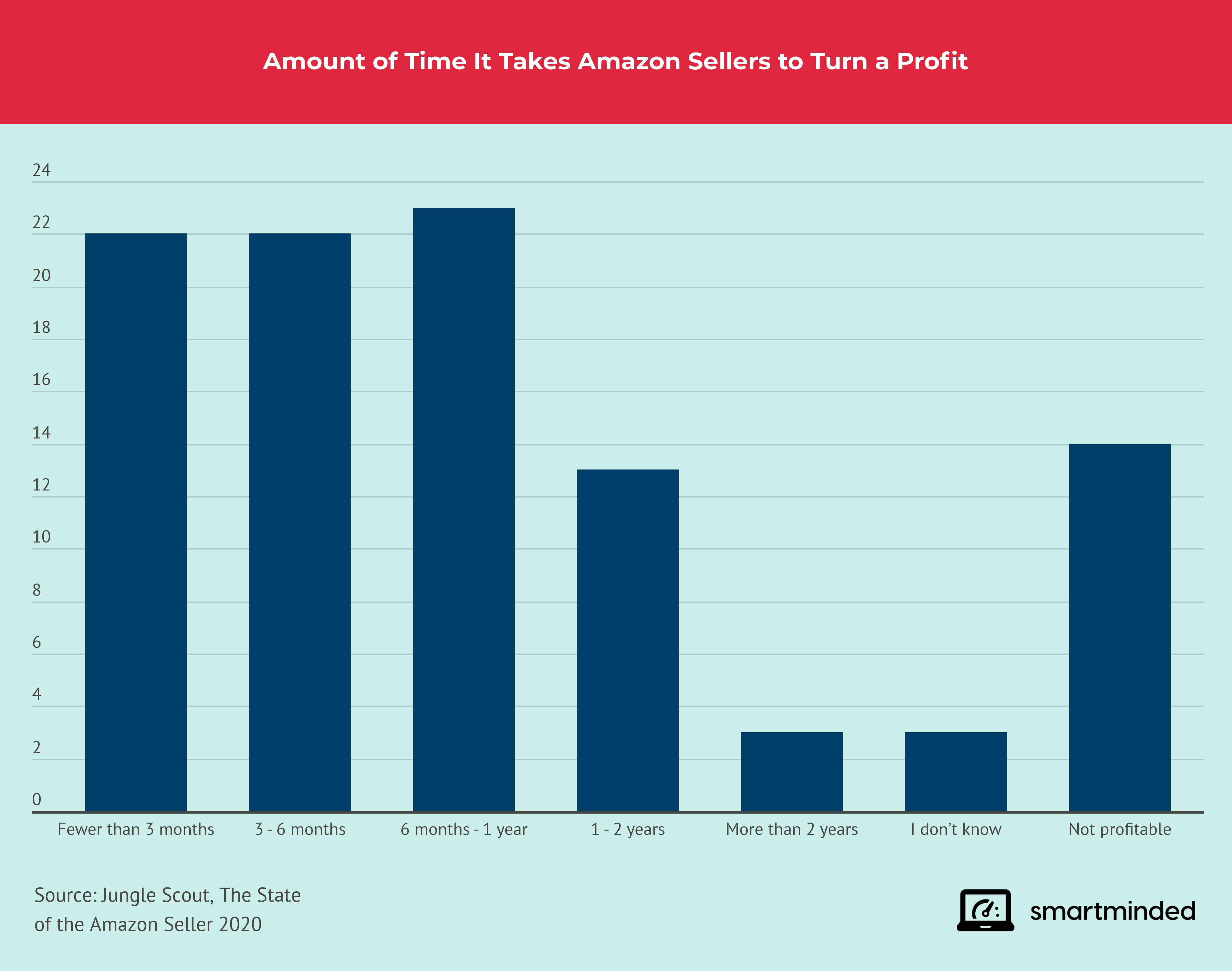 Average monthly sales of Amazon sellers