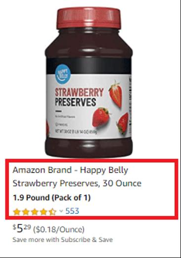 Amazon product titles 12