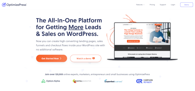 OptimizePress Header