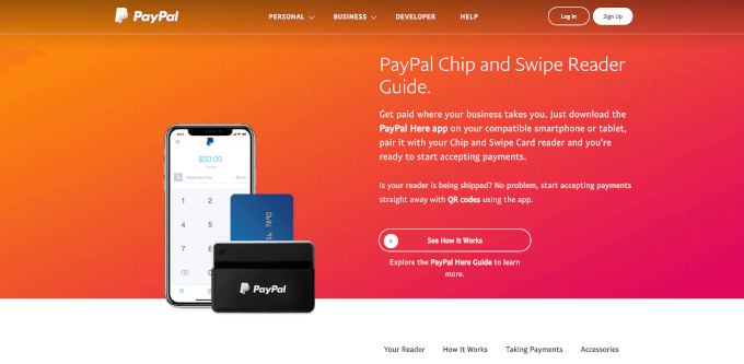 PayPal Chip and Swipe Reader 1
