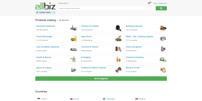 Allbiz Website