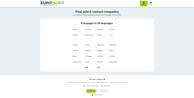 Europages Website
