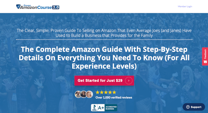 Proven Amazon Course Website