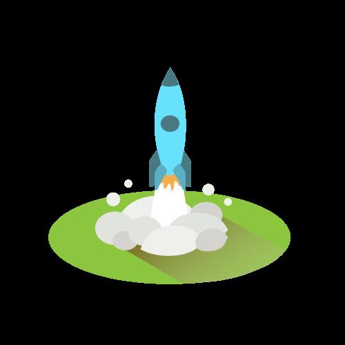 Rocket Launch Isometric