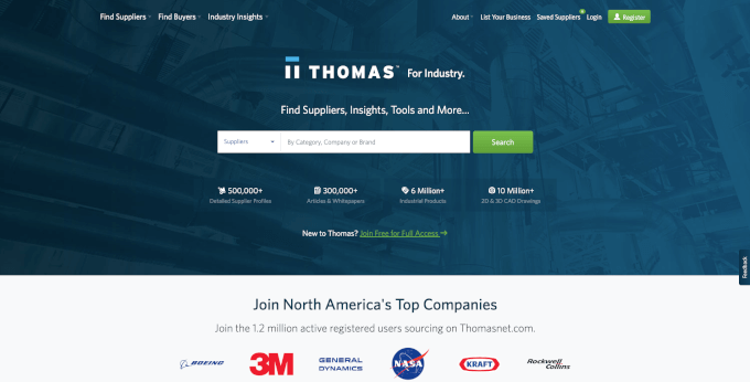 ThomasNet Website
