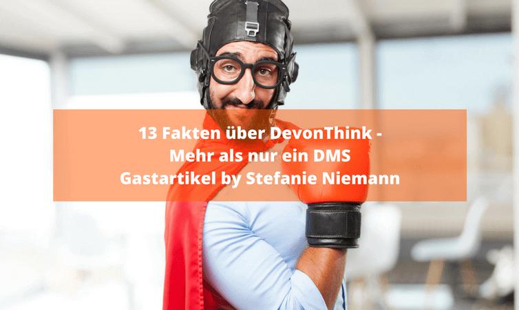 13 Fakten über DevonThink – Mehr als nur ein DMS Gastartikel by Stefanie Niemann
