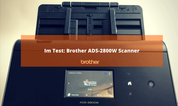 Im Test: Brother ADS-2800W Scanner