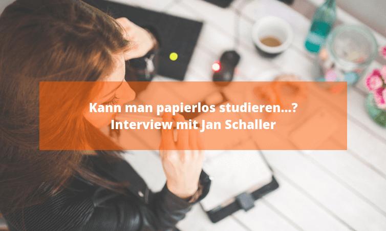 Kann man papierlos studieren...?