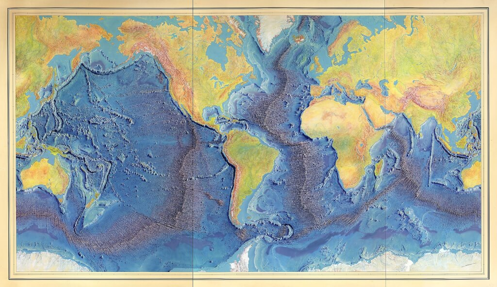 1920px Manuscript painting of Heezen Tharp World ocean floor map by Berann