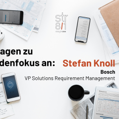 11 Questions about Customer Focus: Stefan Knoll, Bosch, VP Solution Requirement Management