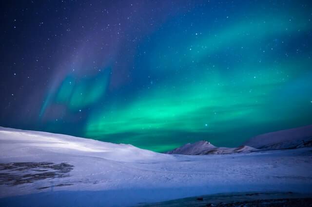 Stock-Foto von Pexels: Wetterleuchten über der Arktis