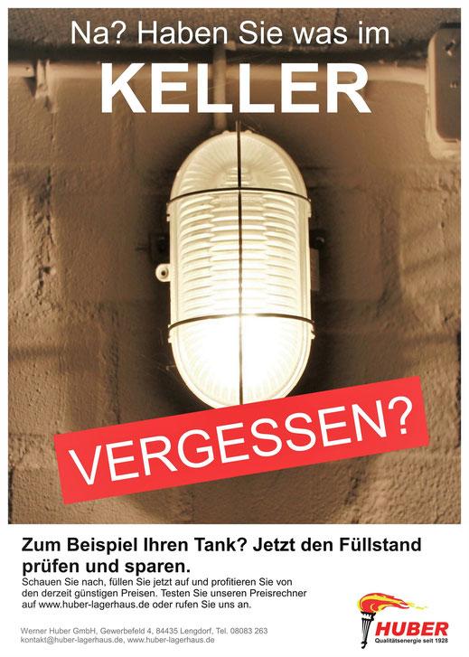 Print-Anzeige für Huber Brennstoffe